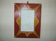 deco design autres cadre couleurs chaudes decoratif : cadre ethnique
