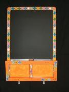 deco design autres tableau ardoise art ndebele orange decoratif et utilita : tableau Ndébélé 2