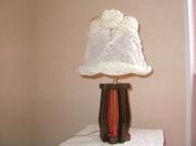 deco design autres lampe turban aux perles noire rouge dore decoration : lampe enturbannée