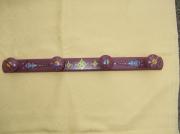 deco design autres patere ,a 4 tetes violette motifs ethniques utilitaire et decora : patère ethnique lavandin