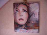 tableau personnages portrait visage femme abstrait : leïla