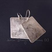 """bijoux boucles d oreil adeline beaujoin argent contemporain : Boucles d'oreilles """"Les fibreuses"""""""