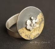 """bijoux bague argent createur : """"Impact doré"""""""