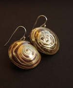 """bijoux boucles d oreil argent adeline b : Boucles d'oreilles """"spirales de laiton"""""""