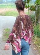 """art textile mode autres mode femme haut : Haut """"ramures"""""""