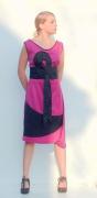 "art textile mode autres mode femme textile robe : Robe ""Pink"""