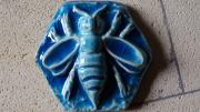 ceramique verre animaux abeille abeilles ruche ruche en terre cuite : Abeille Bleu