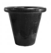 ceramique verre grands pots french planters jardins : POT DROIT NOIR G