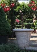 ceramique verre french planter atelier jeanjacques grands vases planterscontactpro : POT DROIT IVOIRE