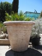 ceramique verre french planters grands pots de jardi : POT DROIT champagne G