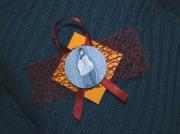 bijoux personnages broche tissu peinture : Broche