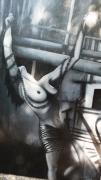 tableau nus femme noir blanc chaines : la femme enchainée