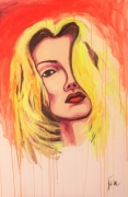 tableau personnages portrait art toile oeuvre : LILY
