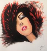 tableau personnages portrait artiste oeuvre art : EVA