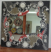 artisanat dart mosaique arts artisanat decoration : Miroir en mosaïque