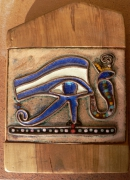 artisanat dart scene de genre egypte horus emaux : oeil d'Horus et cobra