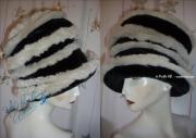 art textile mode autres chapeaux hats retrofururiste futuristicretro : chapeau futuriste, spirale blanc-cassé loup f-fur