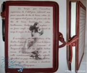 artisanat dart autres ecrire ,a la main journal intime papier recycle cuir : écrire, livre-cahier à lignes, Colette, cuir brun - mathe-hb