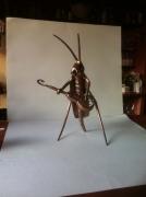 artisanat dart animaux sculpture vieux outils pont saint esprit gard : la cigale