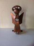 sculpture personnages sculpture vieux outils pont saint esprit france : L'ange qui prie