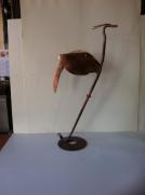 artisanat dart animaux sculpture vieux outils pont saint esprit france : Héron faucille