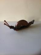 artisanat dart animaux sculpture vieux outils pont saint esprit france : L'escargot chaine