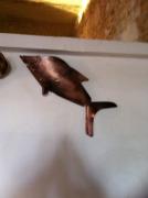 artisanat dart animaux sculpture vieux outils pont saint esprit france : Le requin