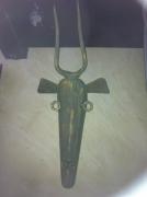 sculpture animaux pont saint esprit gard orix metal : tête de gazelle