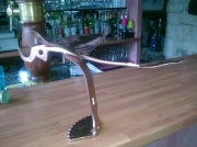 artisanat dart abstrait pont saint esprit gard sculpure metal : l'oiseau