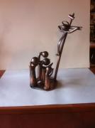 artisanat dart sculpture vieux outils pont saint esprit gard : la prière