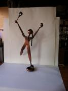 artisanat dart personnages sculpture vieux outils pont saint esprit france : La tenismen