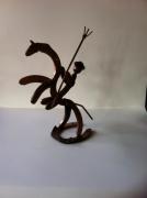 sculpture personnages sculpture vieux outils pont saint esprit france : Le camargais