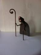 artisanat dart personnages sculpture vieux outils pont saint esprit france : Le pâtre