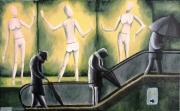 tableau personnages metro escalator mannequin humain : Les trois grâces