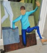 mixte personnages sortie sculpture exit modelage : Exit