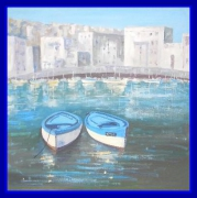 tableau marine alain degouve de nun port de bastia corse sud france : Port de Bastia-France