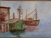 tableau marine bateaux epaves mer voilier : bateaux abandonnés