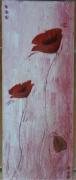 tableau fleurs coquelicot pavot rouge : Coquelicots rose