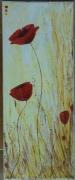 tableau fleurs coquelicot pavot jaune fleur : Coquelicots jaune