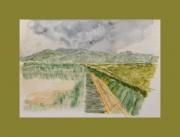 tableau paysages acores promenade iles nature : Sur la route de Santa Cruz