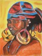 tableau personnages : REGARD VERS L'AFRIQUE