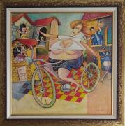tableau : La cycliste