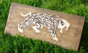 bois marqueterie animaux lille puzzle original collectionneur : puzzle chantourner d'un tigre à dents de sabre ou ( smilodo