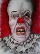 dessin : le clown maléfique
