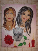tableau personnages : hannah aitchison et kat von d...