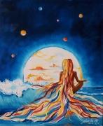 tableau scene de genre surrealisme ocean abstrait noela : Firmament
