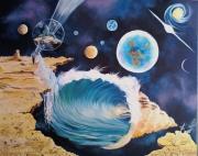 tableau paysages planetes en peinture noela morisot suurealisme en peint peindre le fantastai : mariage interplanètaire