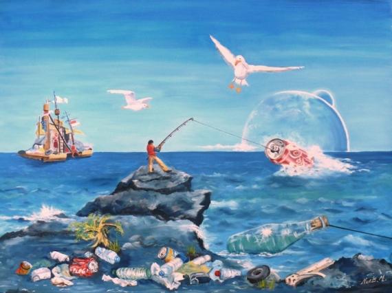 TABLEAU PEINTURE Marine Peinture a l'huile  - Le Nouveau Continent