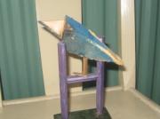 sculpture animaux bois oiseau perchoir perche : un oiseau