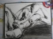 tableau personnages femme corps blanc toile : une femme dénudé